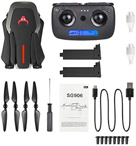 LouiseEvel215 SG906 GPS 5G WiFi FPV Cámara plegable 1080P Selfie RC Drone RTF Con 2  Baterías VS XS809S XS809HW SG106 Bolsa de transporte