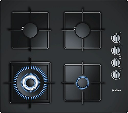 Bosch Tempered Glass Gas Hob, 60cm, Black