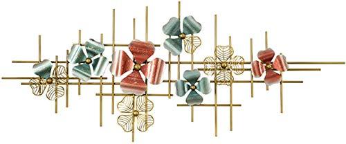 Gymqian Arte de Metal Flor de Pared, Rojo Y Verde Trébol de Cuatro Hojas para la Decoración de la Pared Interior Al Aire Libre Del Dormitorio Del Hogar de Estar Oficina Sala de Jard