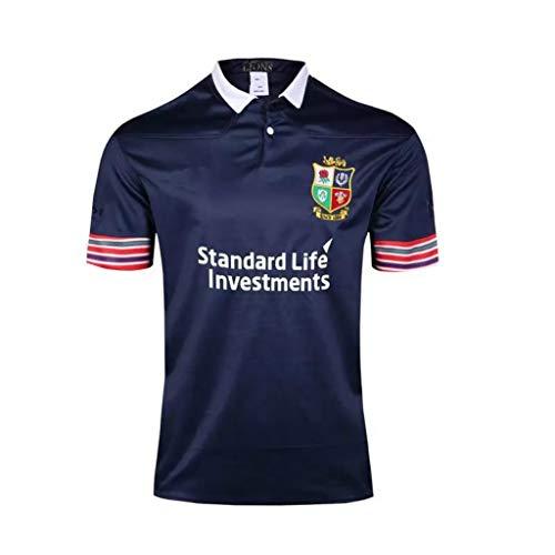 CRBsports Team The British Und Irish Lions, Rugby-Trikot, Home Edition, New Fabric Embroidered, Swag Sportswear (Marine Blau, 2XL)