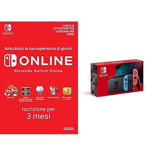 Nintendo Switch - Blu/Rosso Neon [ed. 2019]+ 90 Giorni Switch Online (Individual)