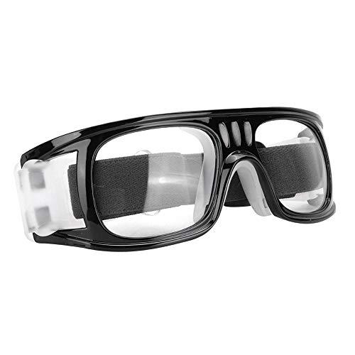 Alomejor Sportbrillen Schutzbrille Schutzbrille mit verstellbarem Gurt für Basketball Fußball Sport(Transparentes Grau)