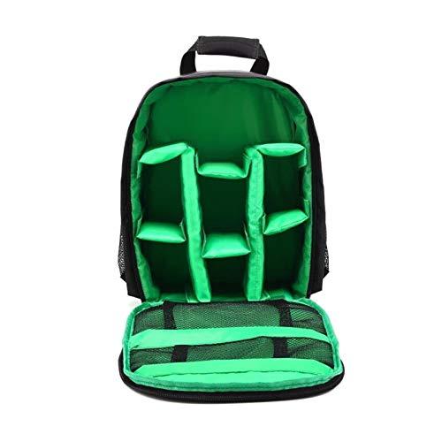 YOBAIH Multi-Funcional de la cámara Bolso Impermeable del morral de la Mochila de Gran Capacidad portátil de Viaje Mochila for cámara for el Exterior Fotografía Bolsa Camara (Color : Type 2 Green)