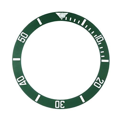 YGGFA Accesorios de repuesto para relojes de reloj con bisel de cerámica para submariner automático de 40 mm para hombre, negro/azul/verde 38 mm (color: blancoverde).