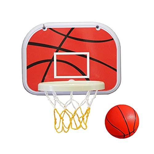 Mini Basketballkorb Kinder,Tür/Wand Basketballständer Sport Spielzeug,Wandmontage Tragbar Basketball Backboard Set,Mit Basketball,Pumpe Und Haken,Für Kinder Von 1 Bis 8 Jahren