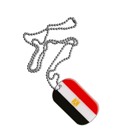 Dog Tag / Erkennungsmarke / Kette Ägypten - 3 x 5 cm