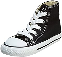 Converse Kid's Chuck Taylor All Star High Top Shoe, Black, 6 Toddler (1-4 Years)