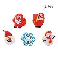 NUOBESTY 30Pcsクリスマスledリングおもちゃ発光フラッシュ指輪おもちゃゴムリング子供大人クリスマスストッキング詰め物(ランダムスタイル)