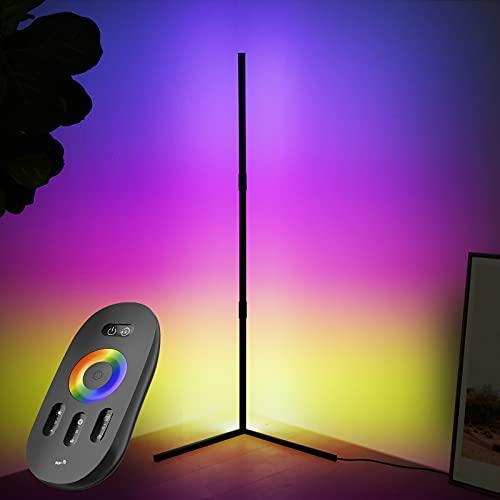 STASUN Lampada Angolare RGB - Lampada Terra 72 LED Cambiando Colore con Telecomando - Illuminazione Atmosfera Dimmerabile Regolabile in velocità - Soggiorno Atmosfera Lampada Notturna