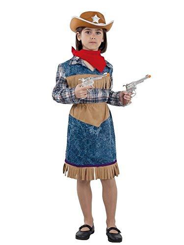 DISBACANAL Disfraz Vaquera niña - -, 8 años