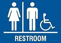 ファミリ化粧室Handicapアクセス可能水平ブルーサイン–アルミニウムメタル Single Sign