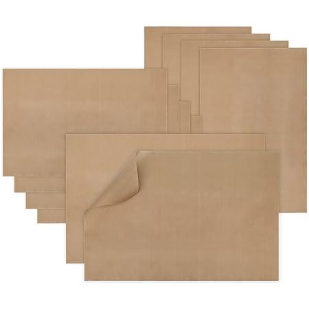 Papier Cuisson réutilisable(Lot de 10 -40X60CM) Papiers de Cuisson Durables Lavable Découpables Résistant Tapis pour Four,Tapis de Cuisson, Feuilles de Cuisson durables