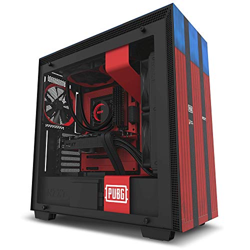 NZXT Mini-ITX PC Gaming Case - RGB verlichting en ventilatorbesturing - CAM-Powered Smart Device - verbeterd kabelmanagementsysteem - water koeling klaar Non i-Series H700 zwart, blauw, rood