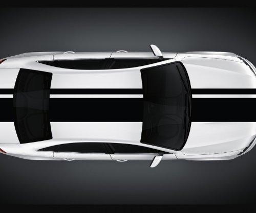 Viperstreifen 400 cm Rally Streifen Rennstreifen Auto Aufkleber Viper 2N003, Farbe:Schwarz Matt;Viper Größe:28cm x 400cm