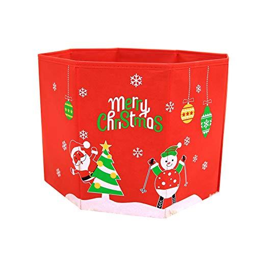 Milopon Sapin de Noël Couverture Ronde pour Sapin de Noël 37 cm, Style 3, 37 cm