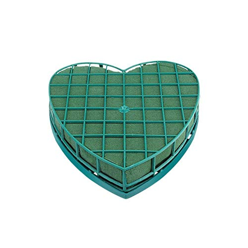 huyipin Oasis Floral Foam Heart Shape Flower Foam Floral Floral Foam for Fresh Flowers Fresh Party Wedding (S)
