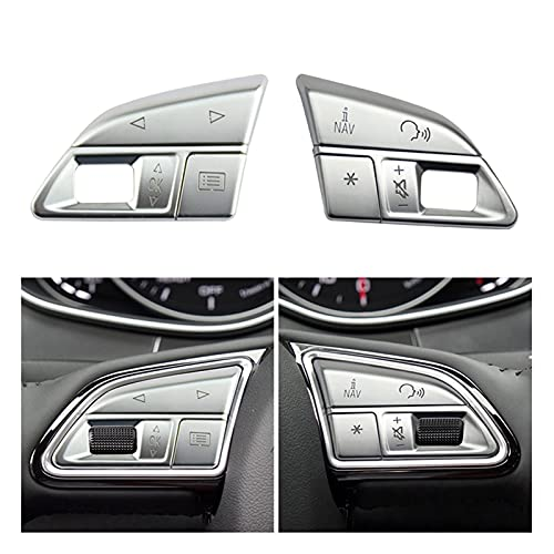 Sweatpants Styling ATUO ATUO Control DE LA Rueda DE Control DE LA Rueda DE LA RECURDAD Cubierta DE ADJORTADORES Pegatinas FIT FOR para Audi A6 A7 C7 S6 S7 RS6 RS7 Accesorios Interiores