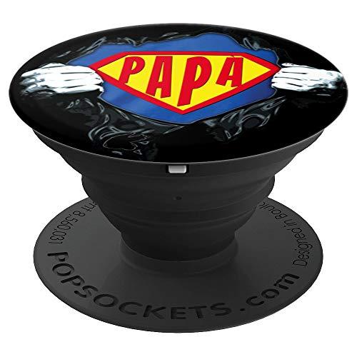 Papà, Il mio Supereroi, Idee Regali Originali Festa del Papà PopSockets Supporto e Impugnatura per Smartphone e Tablet