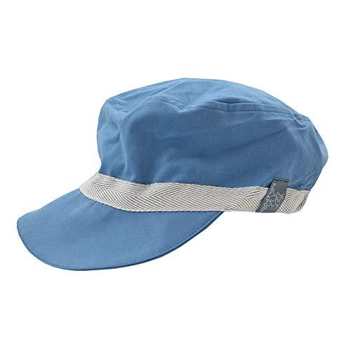 PICKAPOOH Schirmmütze Mika mit UV-Schutz für Kinder und Erwachsene Bio-Baumwolle, Jeans Gr. 58