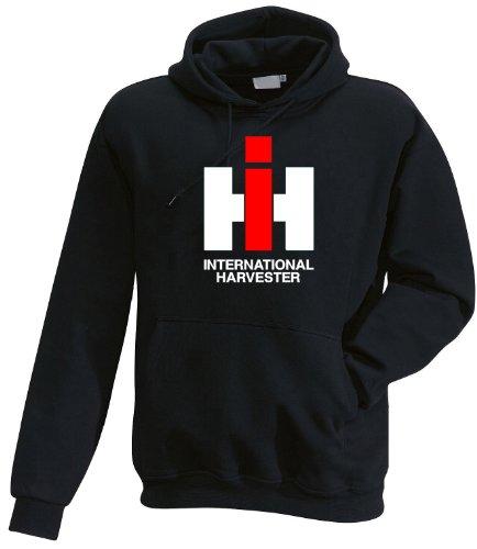 International Harvester IHC Kapuzen-Pullover, Größe L, schwarz