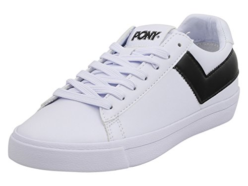 Pony Women's Top-Star-Lo-Core-UL White/Black Sneakers Shoes Sz. 6