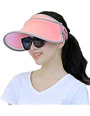 babysbreath17 Casquillo Unisex de Color Caramelo de reproducción Ajustable Tenis Golf Superior vacío del Casquillo del Visera de protección Solar de Las Mujeres Sombreros de los Deportes Rojo 45cm