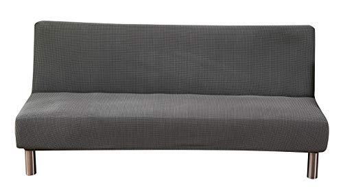 Sofabezug ohne Armlehne Stretch Schonbezug aus Hochwertigem Jacquard-Stoff Klappsofa Überwürfe Sofahusse für Schlafsofa Clic Clac Schutzhülle