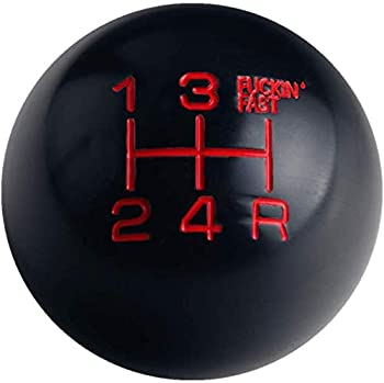 DEWHEL Black/Red Aluminum Fing Fast Shift Knob 5 Speed Short Throw Shifter M12x1.25 M10x1.5 M10x1.25 M8x1.25