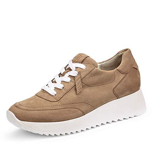 Paul Green Damen Sneaker 4946, Frauen Low-Top Sneaker, Halbschuh strassenschuh schnürer schnürschuh sportschuh Plateau-Sohle,Dakar,41 EU / 7.5 UK