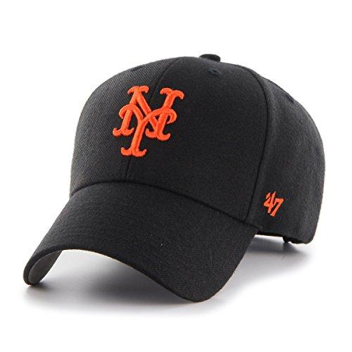 47 Casquette, (New York Mets, Black), Fabricant: Taille Unique Mixte