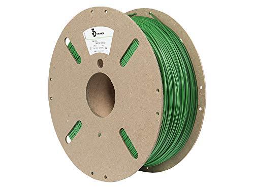 3DTomorrow Traffic Green Pro PLA Filament 1.75mm, 100% Recyclable Cardboard Spool Eco Friendly 3D Printer Filament