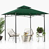 ABCCANOPY Tonnelle de jardin 2,4 x 2,4 m pour terrasses, double toit doux, auvent de jardin, tonnelle pour ombre et pluie, vert forêt