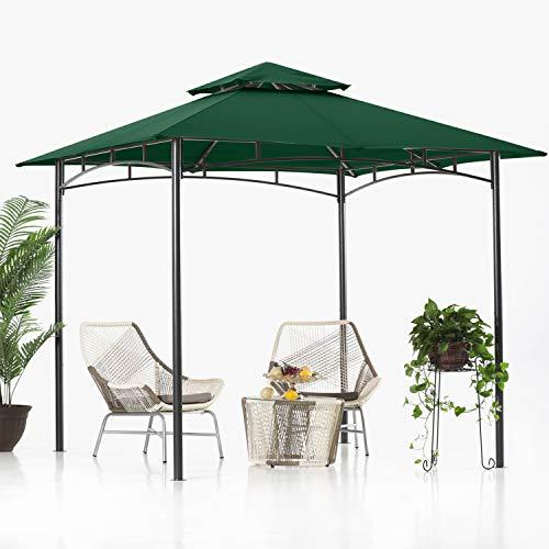 ABCCANOPY - Cenador de doble nivel, 2,8 m x 8 m, color verde bosque