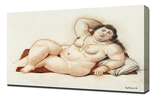 Pingoo Prints Fernando Botero La Modella - Leinwandbild - Kunstdrucke - Gemälde Wandbilder