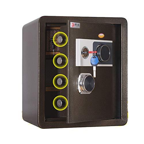 Safe Box Hotel Homestay - Caja fuerte de acero para contraseñas mecánicas para el hogar para joyas, dinero en efectivo, portátil, oficina en casa (color: marrón, tamaño: un tamaño)