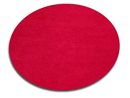 HEVO Vorwerk Bijou rot Spielteppich Nicht nur für Kinder 160 cm Ø Rund