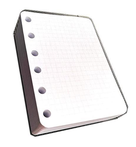ricambio per raccoglitore POCKET mini con 6 anelli (200 fogli a quadretti carta bianca)
