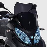 Bulle sport (45cm Modèle Touring Sport Business) ermax pour MP3 125 300 500 2011 2018 marron transparent