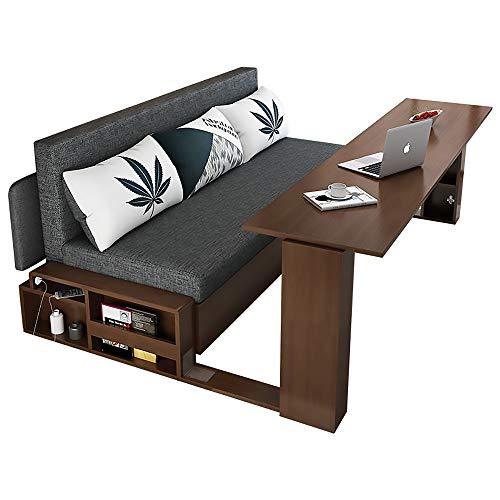 MKMKT Sofá Cama Plegable Multifuncional de Madera Maciza, sofá Cama de Almacenamiento Simple y Moderno, sofá Cama, Mesa de café, Mesa de Comedor, Mesa de computadora, 5 en uno,145cm