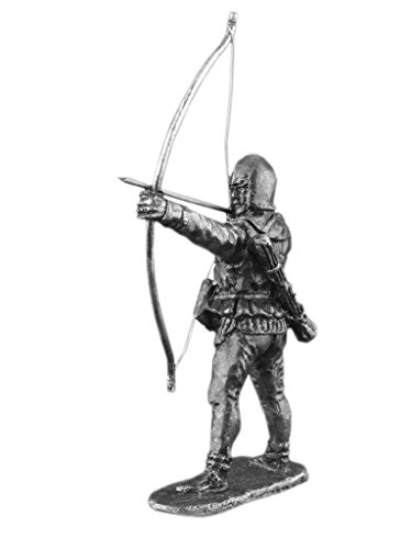 Ronin Miniatures - English Archer - Tin Metal Collection Knight Toy - Size 1/32 Scale - 54mm Action Figures - Home Collectible Figurines