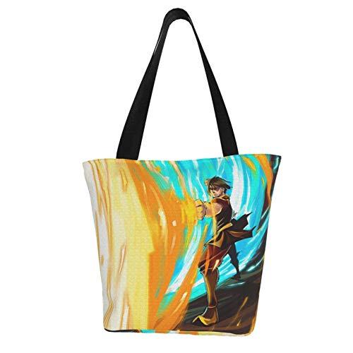 Jupsero Avatar The Last Airbender Bolso de mano para mujer bolsos de lona bolsos de hombro casuales para mujer para el bolso de compras
