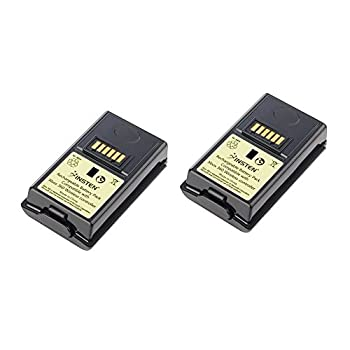 Insten [2 Pack] Rechargeable 3600mAh Battery Pack for Xbox 360 Wireless Controller Black [Video Game]
