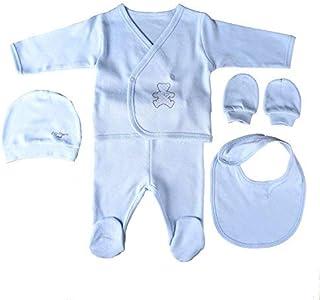 8606ad9c52f63 Sevira Kids Coffret Trousseau de Naissance en 100% Coton Bio - Vêtements Bébé  5 Pièces