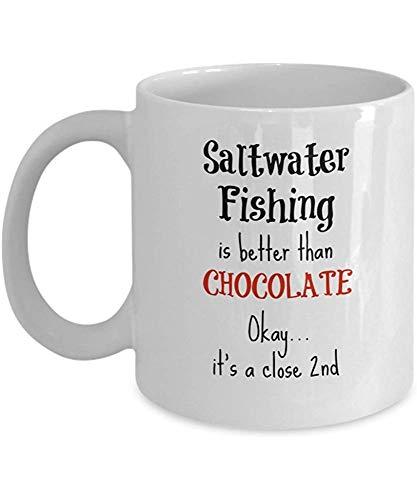 Zout water vismok - beter dan chocolade - vissers geschenken - 11 Oz koffiebeker voor vrouwen of mannen
