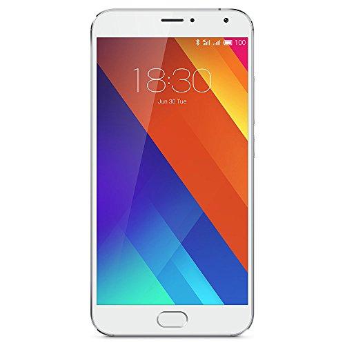 Meizu MX532GBS 14 cm (5,5 Zoll) Smartphone (32 GB, Helio X10 Turbo prozessor ARM Cortex A53, 20,7MP Kamera Silber/weiß