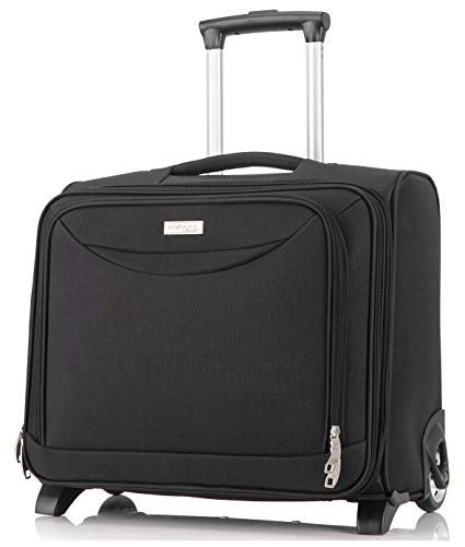 DK Luggage Starlite Super Lightweight Business Travel Laptop Case 2 Wheels Fit up to 15.6' Laptop