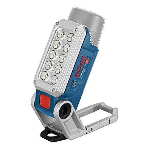 Bosch Professional 12V System Akku Baustrahler GLI 12V-330 (330 Lumen, 0,3 kg, 2 Helligkeitsstufen, ohne Akkus und Ladegerät, im Karton)