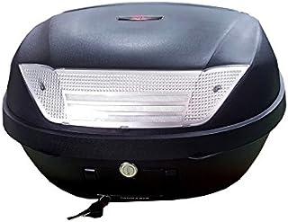 Baul Top Case para Moto. Capacidad de 46 litros para Dos Cascos y mas Accesorios. Color Negro. Scooter, ciclomotor, Motocicleta, maxiscooter, ATV.