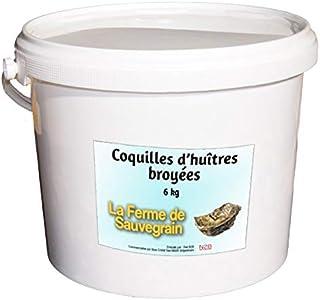 La Ferme Sauvegrain Coquilles d'huitres et de crustacés Marins broyées pour Les Poule - 6 kg