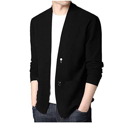 N\P Los hombres de punto chaqueta chaqueta suéter de los hombres primavera y otoño desgaste sin cuello ropa casual camisa de los hombres